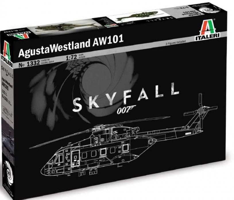 Skyfall 007 Agusta Westland AW 101 - Celebrating 50 years of James Bond 1332 ITALERI