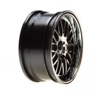 Vaterra Jantes déport Deep Mesh Chrome/blk 26mm