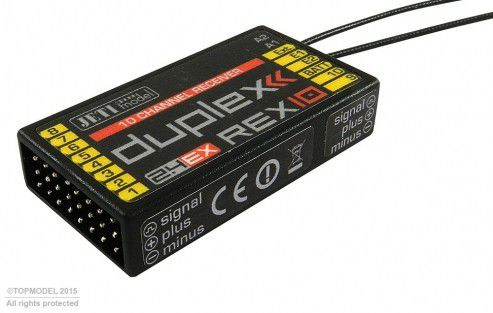 REX 10 Duplex EX 2.4Ghz Jeti 10 Voies - Récepteur - JDEX-RR10 rex10