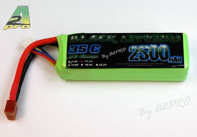Black lithium 2500mAh 45C 3S - 9250330