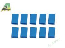 Boitier JR femelle Bleu (10 pcs)