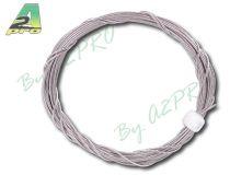 Câble acier inox tressé 0,5mm - 2m