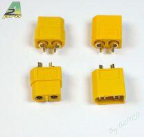 Connecteur XT-60 OR Mâle + Femelle (2 paires)