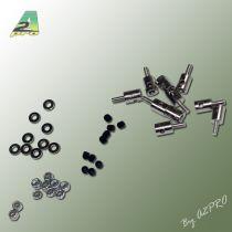 Domino fixation càp 2mm / servo (Nylstop M2) (10 pcs)