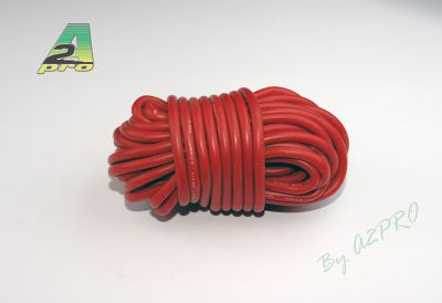 Fil silicone AWG14-2.12² rouge (5m)