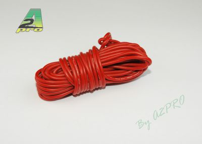 Fil silicone AWG18-0.81² rouge (5m)