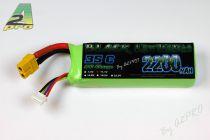Black lithium 2200mAh 35C 3S - XT-60