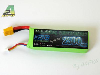Black lithium 2500mAh 35C 3S - XT-60 - 9250333