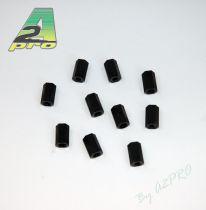 Entretoise nylon noir femelle-femelle M3x10 (10p)