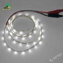 Ruban LED auto-collant 6V Blanc 1m