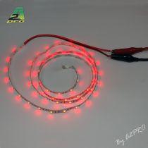 Ruban LED auto-collant 6V Rouge 1m