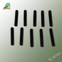Entretoise nylon noir femelle-femelle M3x40 (10p)