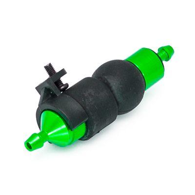 Vert Filtre a carburant alu anodise avec pompe d amorcage + support