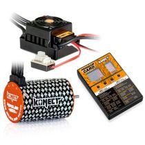 COMBO BRUSHLESS 50Amp WP + moteur 4P 3652SL 4000Kv +carte de prog