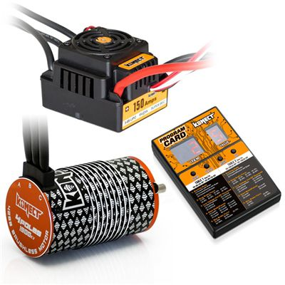 COMBO BRUSHLESS 1/8 150Amp WP + Moteur 4P. 4268 1900KV +carte de prog