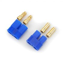 Prises EC3 coté batterie et contrôleur - HORIZON HOBBY - Référence: DYNC0009