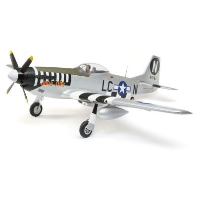 E-FLITE P-51D Mustang 1.2m BNF Basic w/AS3X and SS - HORIZON HOBBY - Référence: EFL8950