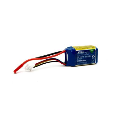 Batterie E-flite Li-Po 3S 11,1V 300mA 30C, JST - HORIZON HOBBY - Référence: EFLB3003SJ30