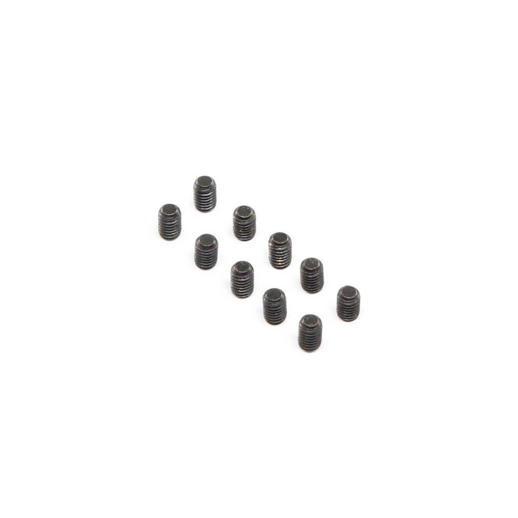 Set Screws, Stl, BO, Flat Point, M4 x 6mm (10) - HORIZON HOBBY - Référence: LOS255021