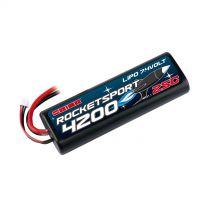 Rocket Sport 4200 LiPo 7,4V (Tamiya,Dean's,TRX, EC3 Venom Plug) - HORIZON HOBBY - Référence: ORI14171