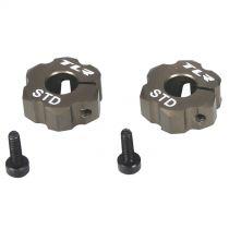 22 -Hexagone arrière en aluminium,largeur standard - HORIZON HOBBY - Référence: TLR2930