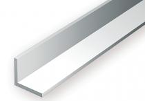 "292 - Profilés en \""L\"" en polystyrène blanc - Longueur : 355mm - Section : 2,03 x 2,03mm - Evergreen"