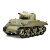 3898-1 - CHAR D\'ASSAUT RC 1/16 M4A3 SHERMAN COMPLET (BRUIT / FUMEE) -2.4GHz