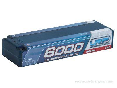 430211 - LRP - Accu lipo 6000 2S 7.4v 110c hardcase coque