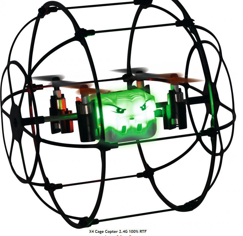 500507090 - Drone quadricoptère RC Sport X4 Cage Copter prêt à voler - CARSON 2