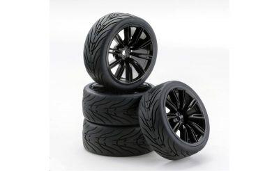 500900540 - set de 4 roues 1/10 VINS Style noir - CARSON