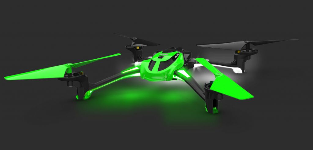6608-VE LATRAX ALIAS QUADRICOPTER VERT - MODE 2 - TRX6608