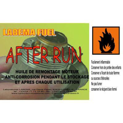 AFTER RUN - Huile de remontage anti-corrosion (Bidon de 250 ml)