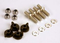 ANCHORING PINS WITH LOCKNUTS (4)/ PLASTIC THUMBSCREWS FOR UPPER DECK