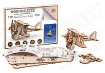 Avion bois  Biplan maquette/puzzle 3D en bois - WOODEN CITY S056WR304