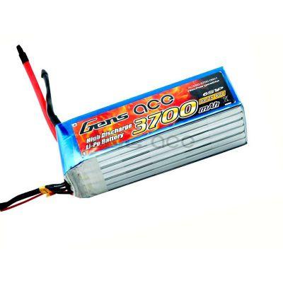 B-60C-3700-6S1P - Batterie Gens ace lipo 6S 22.2V 3700mAh 60C prise EC5