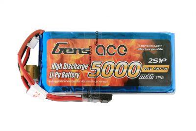 b-rx/tx-5000-2s1p - LiPo 2S 7.4v 5000mAh 2S1P - Gens ace