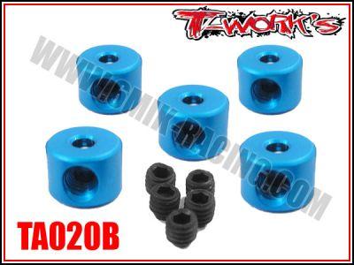 Bagues d\'arrêt de 2 mm bleues T-Work\'s (5)