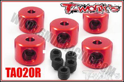 Bagues d\'arrêt de 2 mm Rouge T-Work\'s (5)