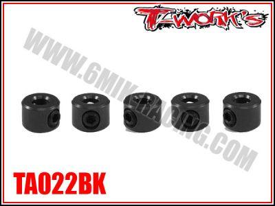 Bagues d\'arrêt de 3 mm noires T-Work\'s (5)