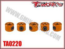 Bagues d\'arrêt de 3 mm oranges T-Work\'s (5)