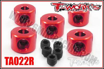 Bagues d\'arrêt de 3 mm Rouge T-Work\'s (5)