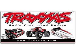 BANDEROLE TRAXXAS RACING ROUGE ET NOIRE 0,91M X 2,10M