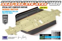 Bavettes Composite XB8 latérales L+R - 351159-S - Pièce détachée XRAY