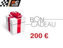BC200 - CARTE ou CHEQUE CADEAU - BON d\'ACHAT - 200 eur