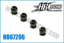 Boules de direction intérieures et de renfort (4) pour HB 817 - HB67206 - Pièce détachée HB Racing