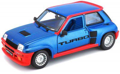 BUR21088 - BURAGO - Renault R5 Turbo bleu 1980 - 1/24