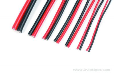 CABLE SIL. 20AWG 196 BRINS 1M