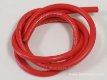 CABLE SILICONE 8AWG ROUGE 1M