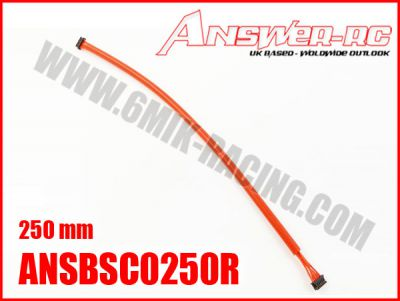Cable silicone pour moteur Brushless sensor 250 mm ANSWER RC