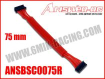 Cable silicone pour moteur Brushless sensor 75 mm ANSWER RC